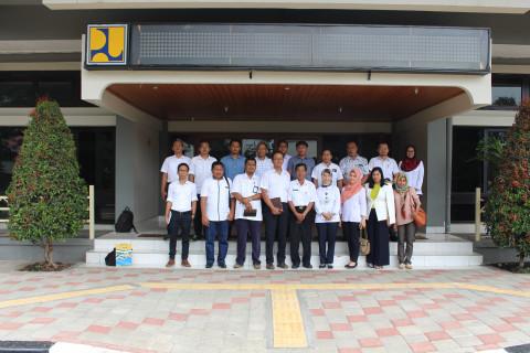 Pusjatan Menerima Kunjungan Dinas PU dan Tata Ruang Kabupaten Wakatobi