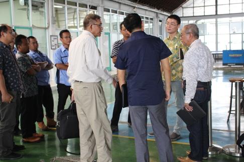 Pusjatan menerima kunjungan China Academy of Railway Sciences