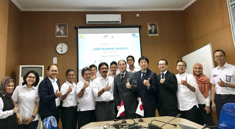 Pusjatan dan Mitra Kerja Sama dari Jepang, Public Works and Research Institute (PWRI) adakan Joint Planning Session