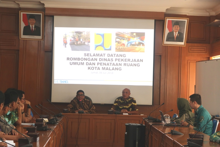 Pusjatan Terima kunjungan Dinas Pekerjaan Umum dan Penataan Ruang Kota Malang