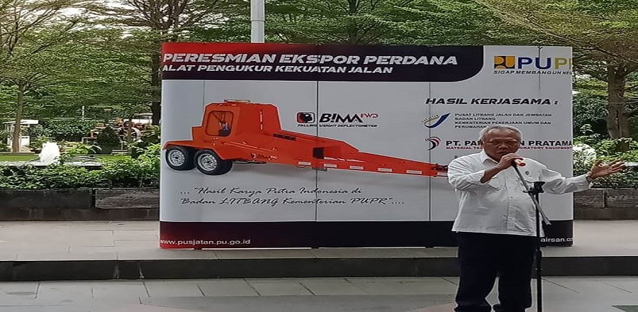 Ekspor Perdana Alat Pengukur Kekuatan Jalan (APKJ)