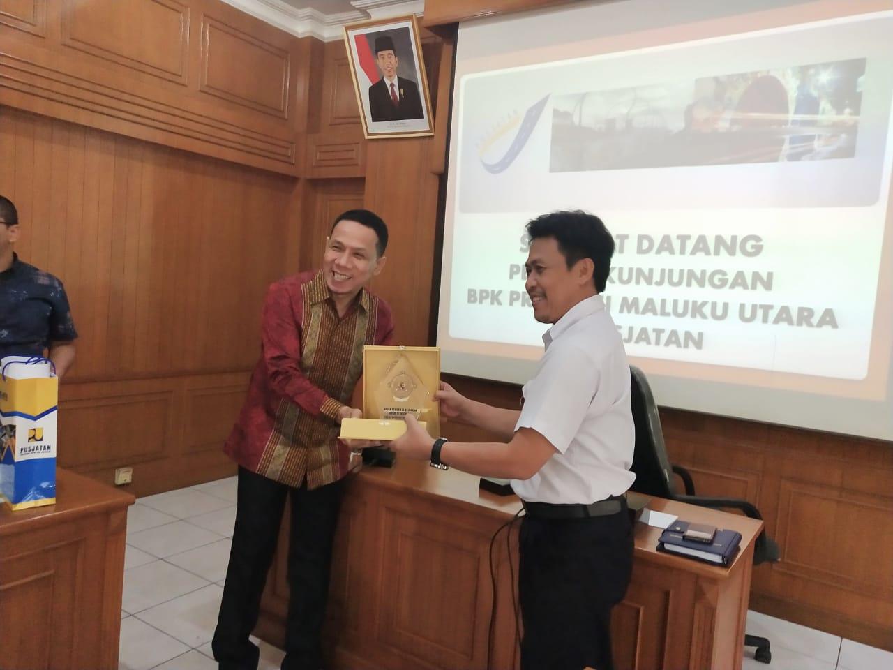 BPK Perwakilan Provinsi Maluku Utara Kunjungi Pusjatan